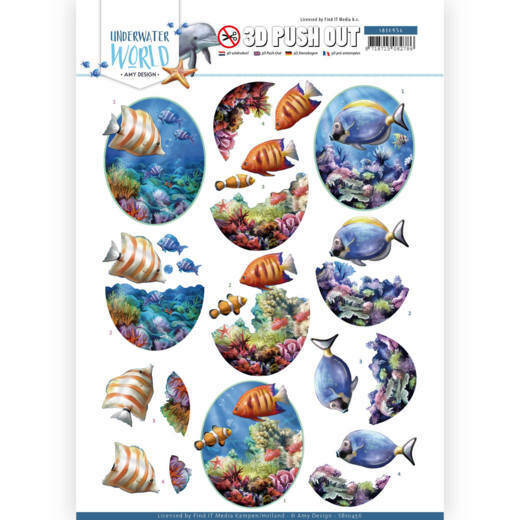3D Push Out - Amy Design - Underwater World - Saltwater Fish, nr. SB10456