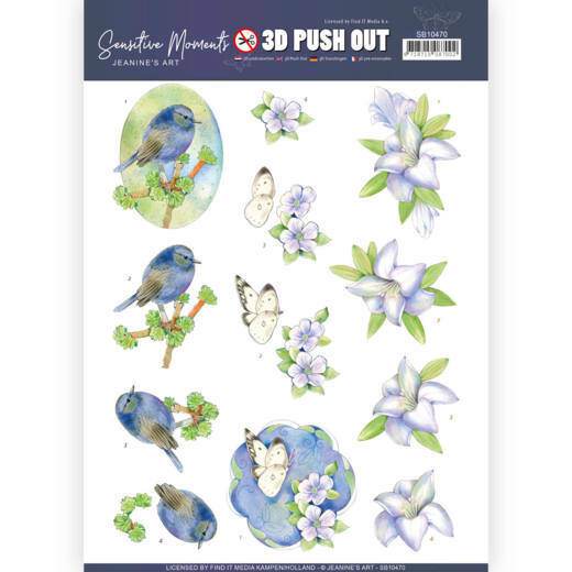 3D Push Out - Jeanine's Art - Sensitive Moments - Lily, nr. SB10470