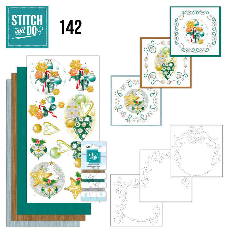 Stitch and Do setje nr. 142, Christmas Baubles