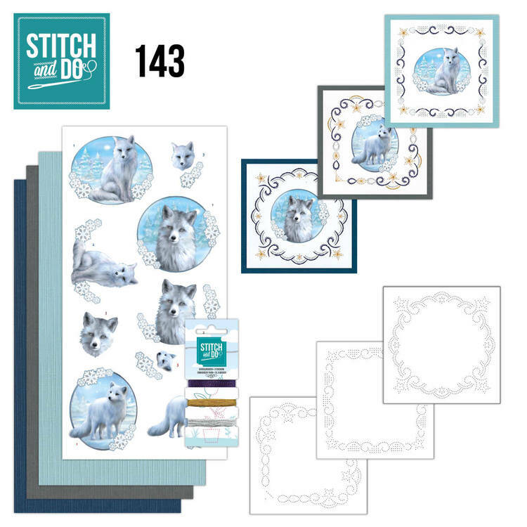Stitch and Do setje nr. 143, Winter Foxes