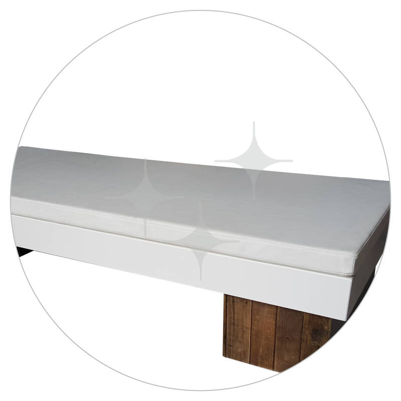 EcoWood lounge ligbed wit of antraciet