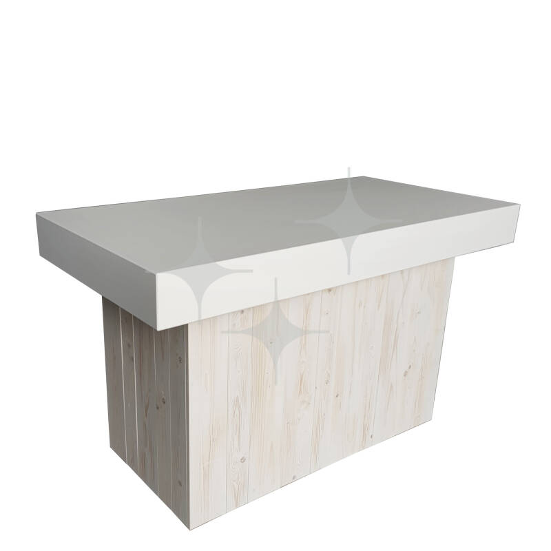 Natural White buffet 160x80 Wit blad