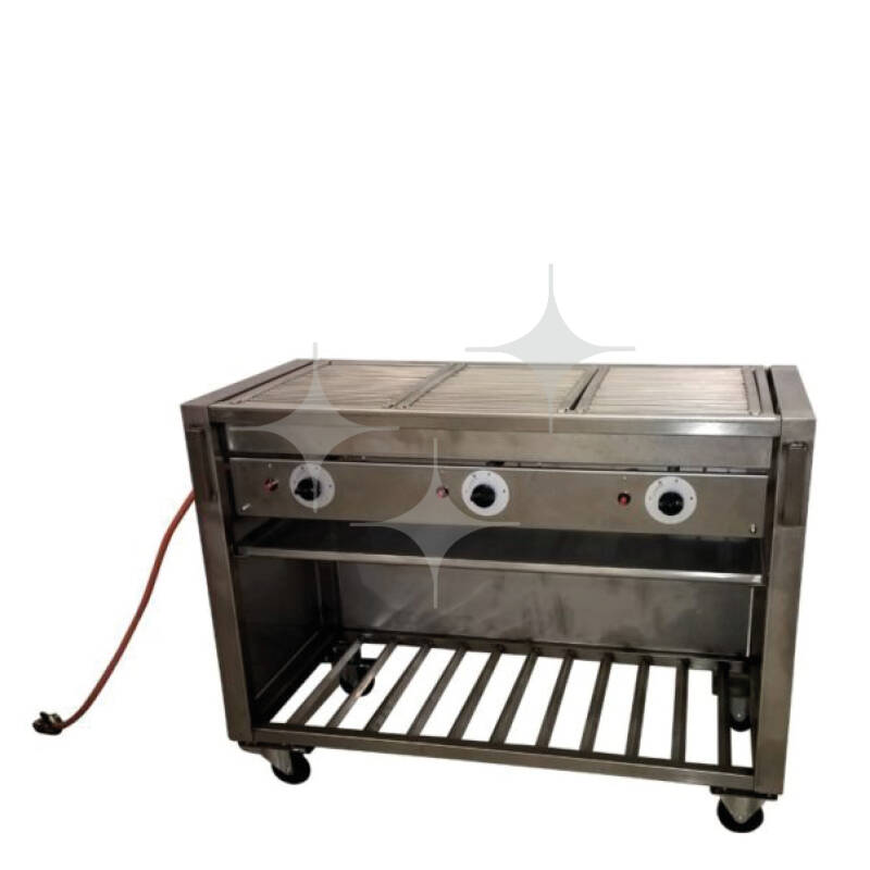 Barbecue groot gas 126x58cm