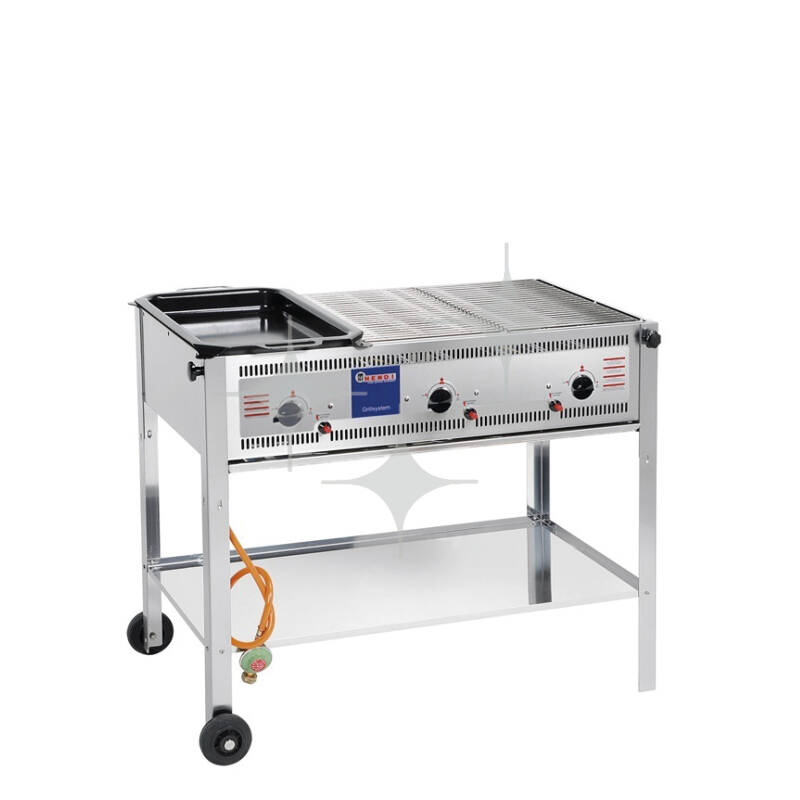 Barbecue middel gas 100x51cm