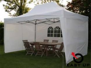 Easy up partytent 4,5 x 3 m. Wit