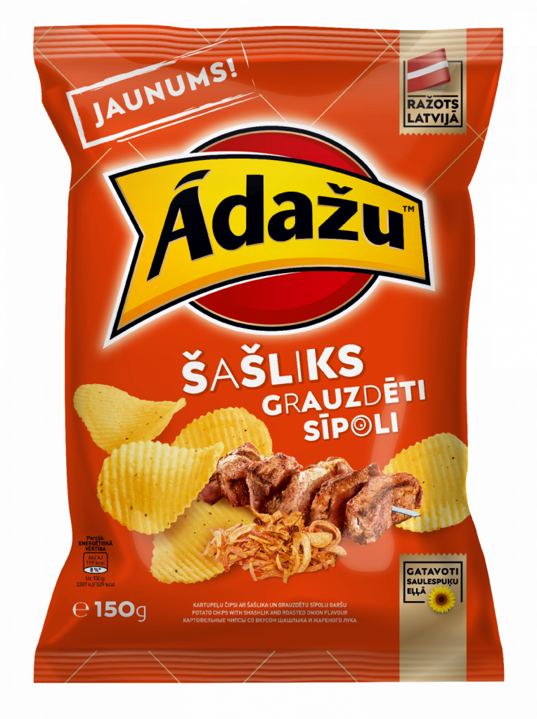 Potato chips with shashlik and roasted onion flavour, pre order