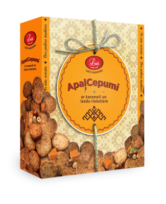 Lāču round biscuits with caramel and hazelnuts, pre order