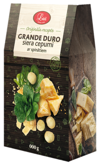 Lāču grande duro cheese cookies with spinach, pre order