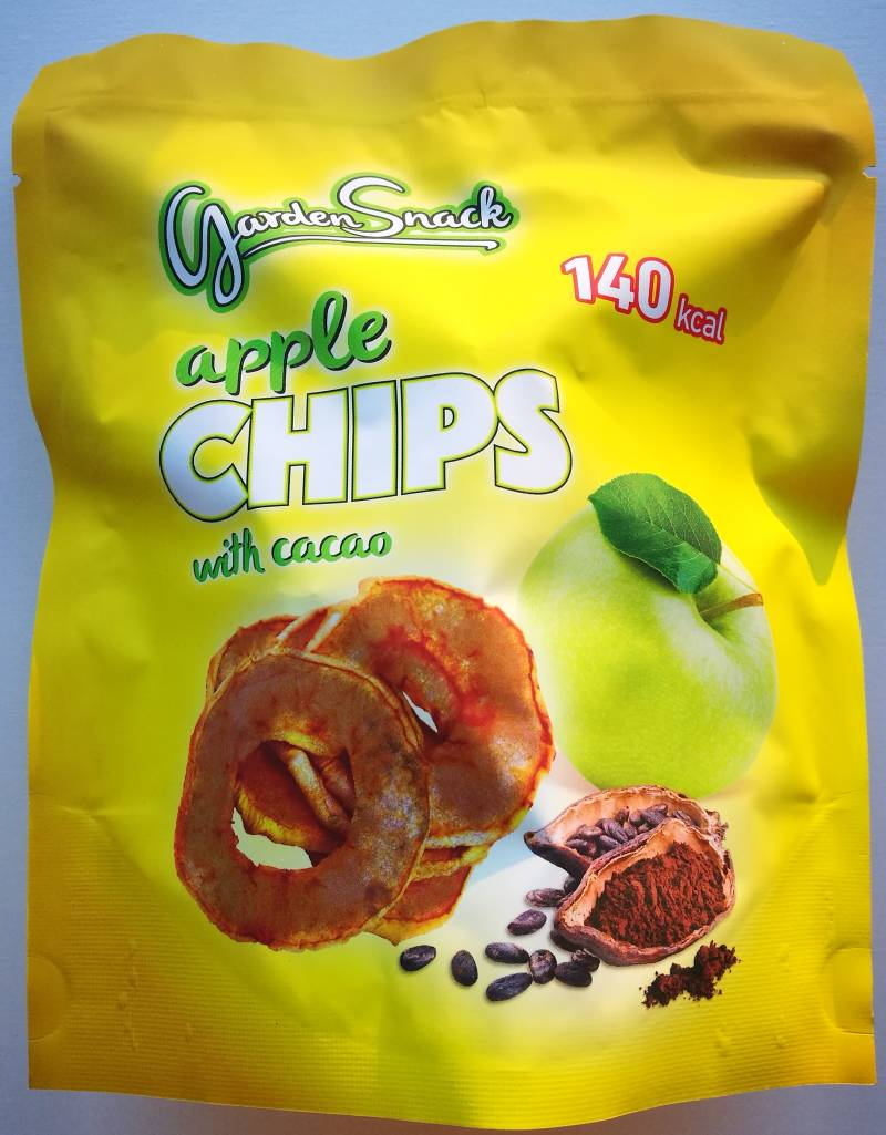 Garden Snack apples chips with cacao