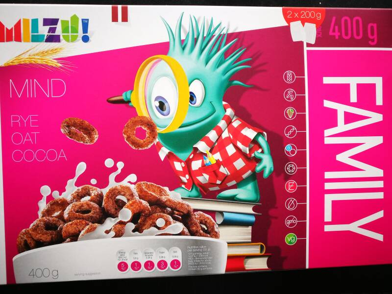 Milzu! Cereal ringen (Mind) with cocoa