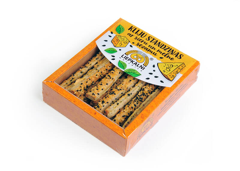 Liepkalnu bran tongs with cheese and black sesame, pre order