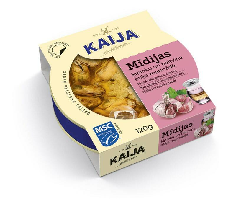 Kaija smoked mussels with garlic in dressing, pre order