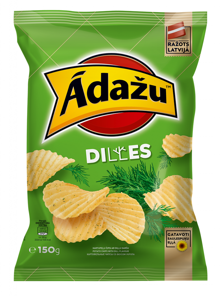 Potato chips with dill taste 24.08.21.
