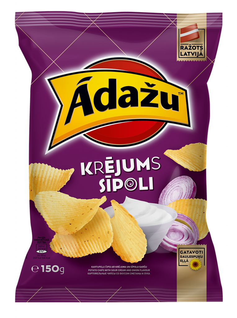 Potato chips with sour cream and onion flavor 24.08.21.