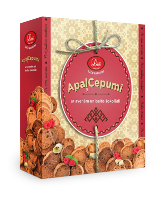 Lāču round cookies with raspberries and white chocolate, pre order