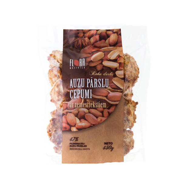 Flora rolled oat cookies with peanuts, pre order