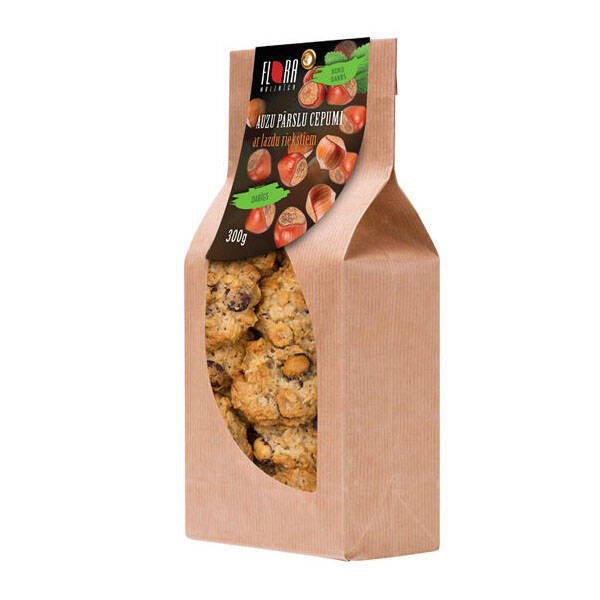 Flora rolled oat cookies with hazelnuts, pre order