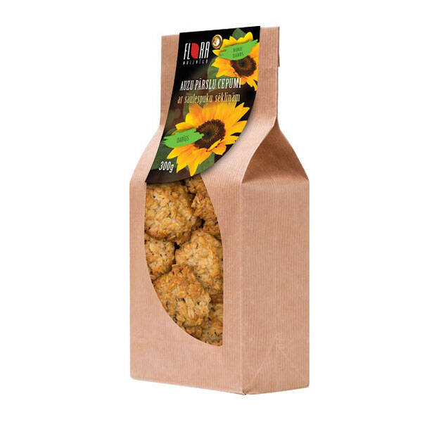 Flora rolled oat cookies with sunflower seeds, pre order