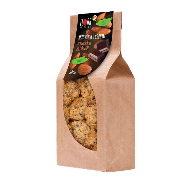 Flora rolled oat cookies with almonds and chocolate, pre order