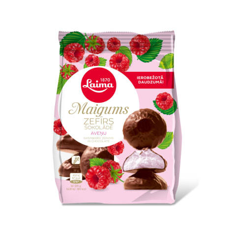 Laima framboos marshmallow in chocolade, pre order
