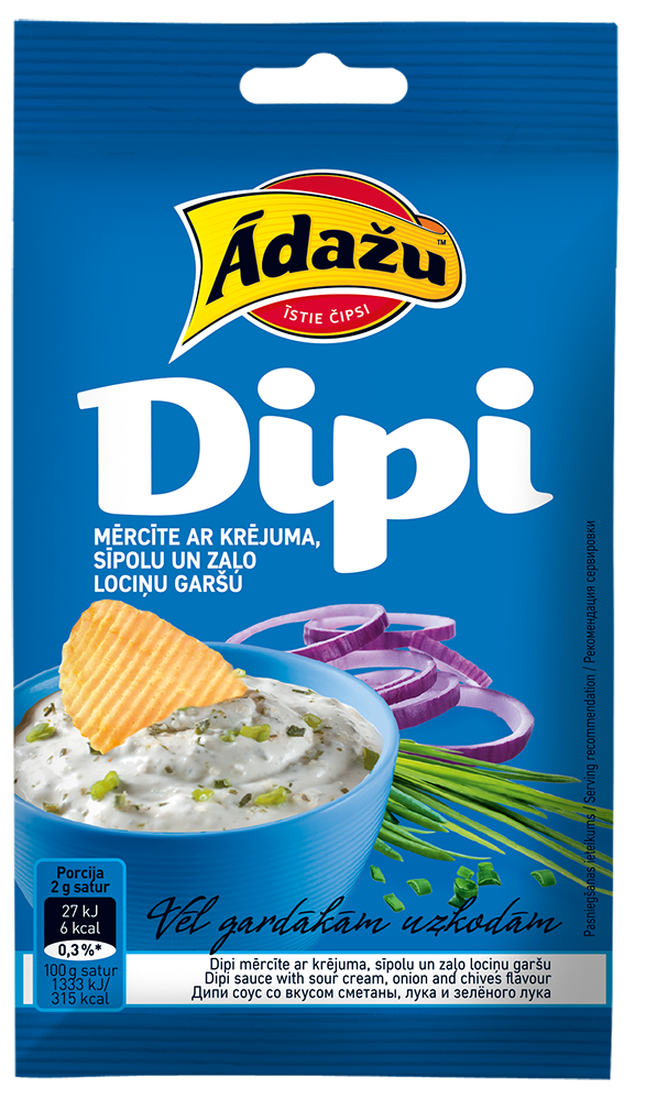 Dipi sauce sour with cream, onion and chives