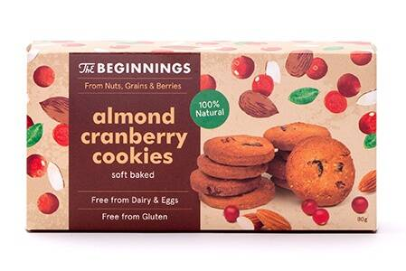 The Beginnings almond cranberry cookies