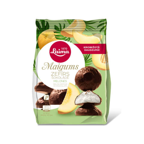 Laima melon marshmallow in chocolate, pre order