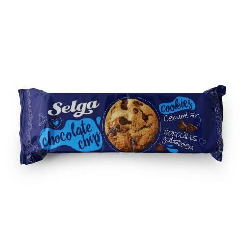 Selga cookies with chocolate pieces