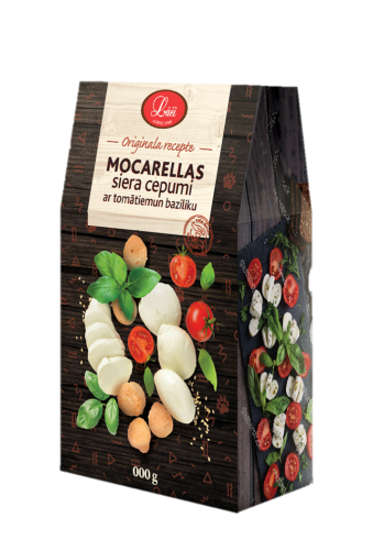 Lāču mozzarella cheese cookies with tomatoes and basil, pre order