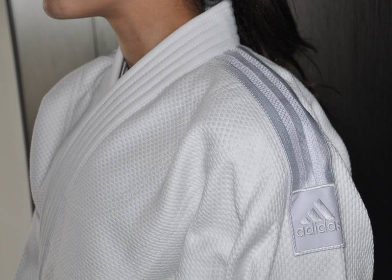 Adidas judopak J800 Expert white with white labels