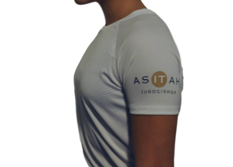 Asitah sport shirt dry fit wit of zwart