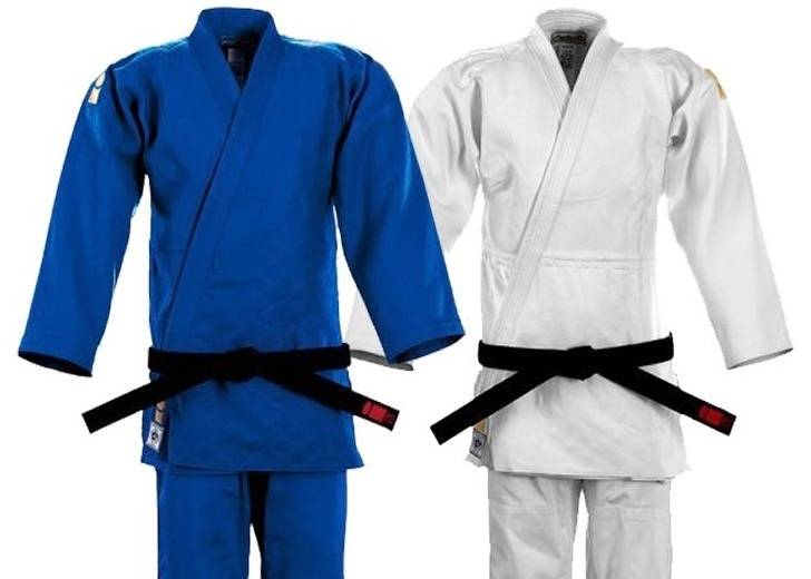Essimo IJF Gold duopack white&blue judogi 10% sale