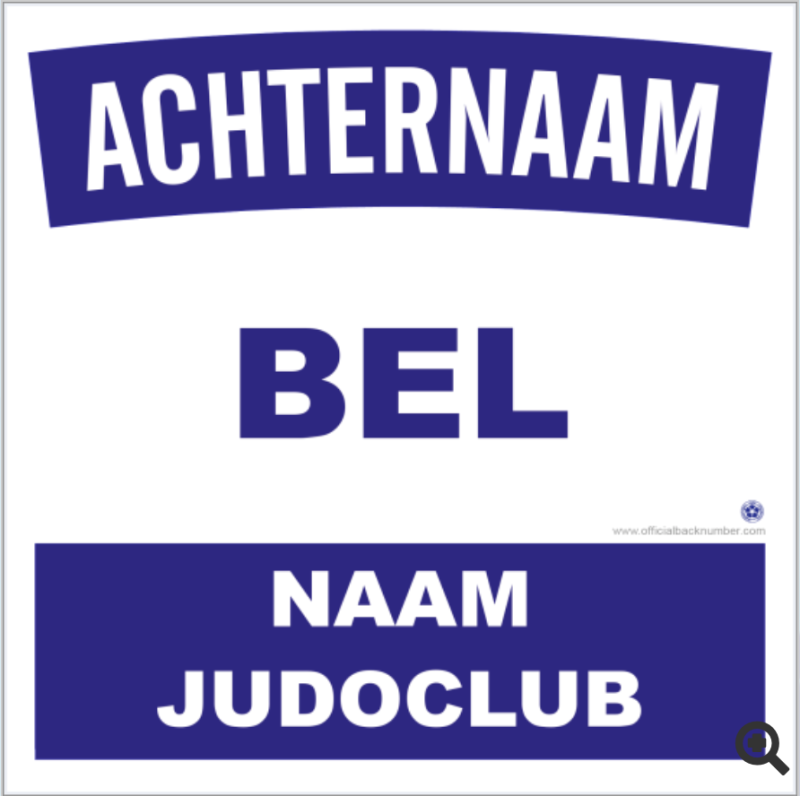 Backnumber met clubnaam