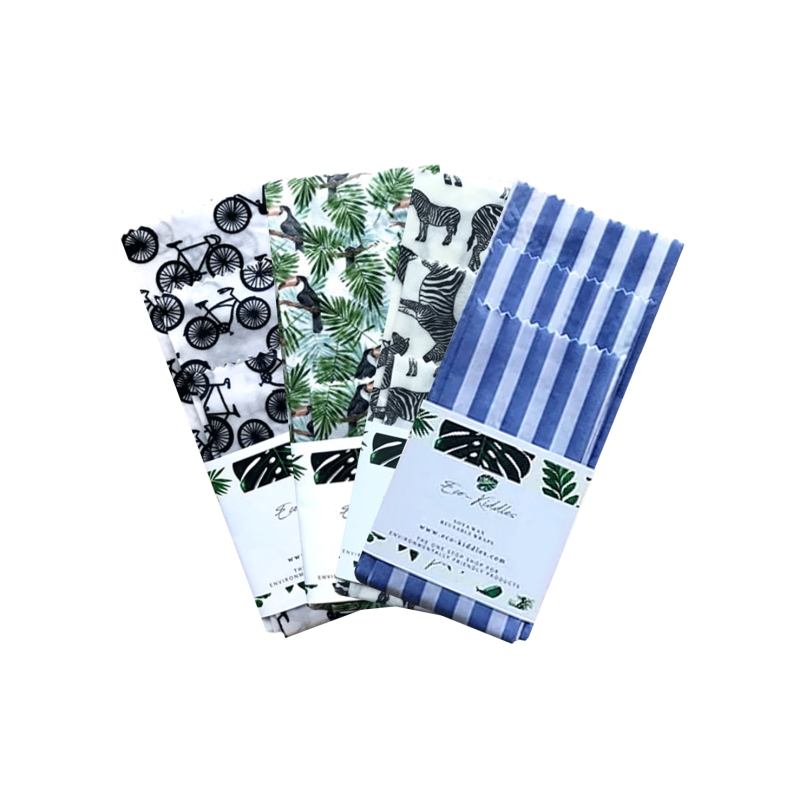 Eco-Kiddles Set van 3 Vegan Soja Wax Wraps