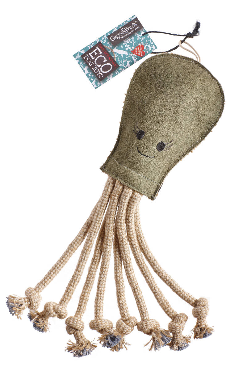 Green & Wilds Eco Hondenspeeltje Olive the Octopus