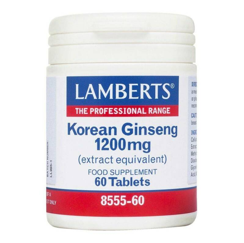 Korean Ginseng 1200mg 60tab Lamberts