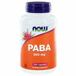 Paba 500mg 100 caps NOW