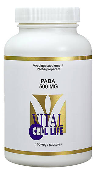 PABA 500mg 100vcaps Vital Cell Life