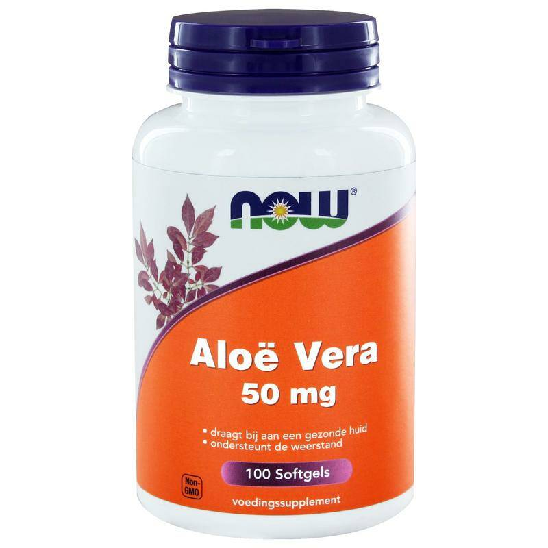 Aloë Vera 50mg 100softgels NOW