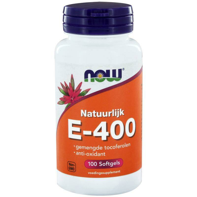 Vitamine E-400 gemengde tocoferolen 100softgels NOW