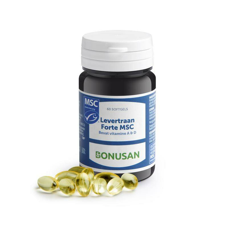 Levertraan Forte MSC 60 of 120 softgels Bonusan