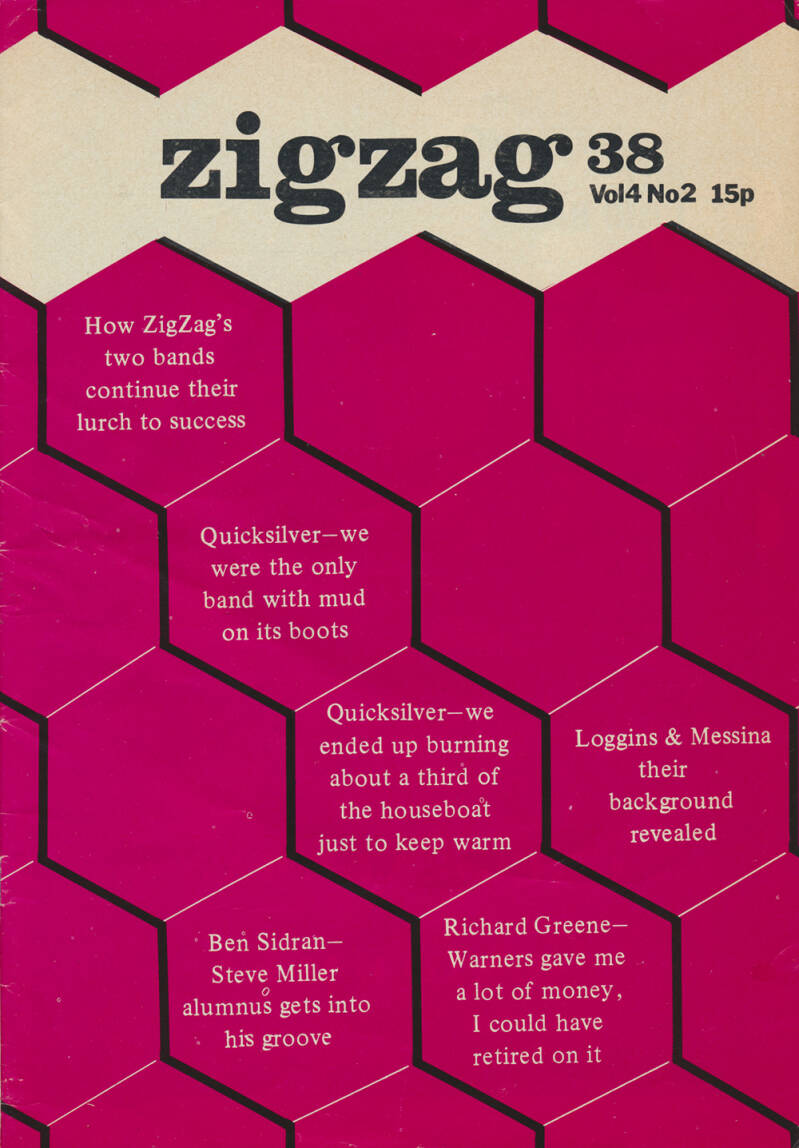 Zigzag issue 38 - December 1973 [UK] - Magazine
