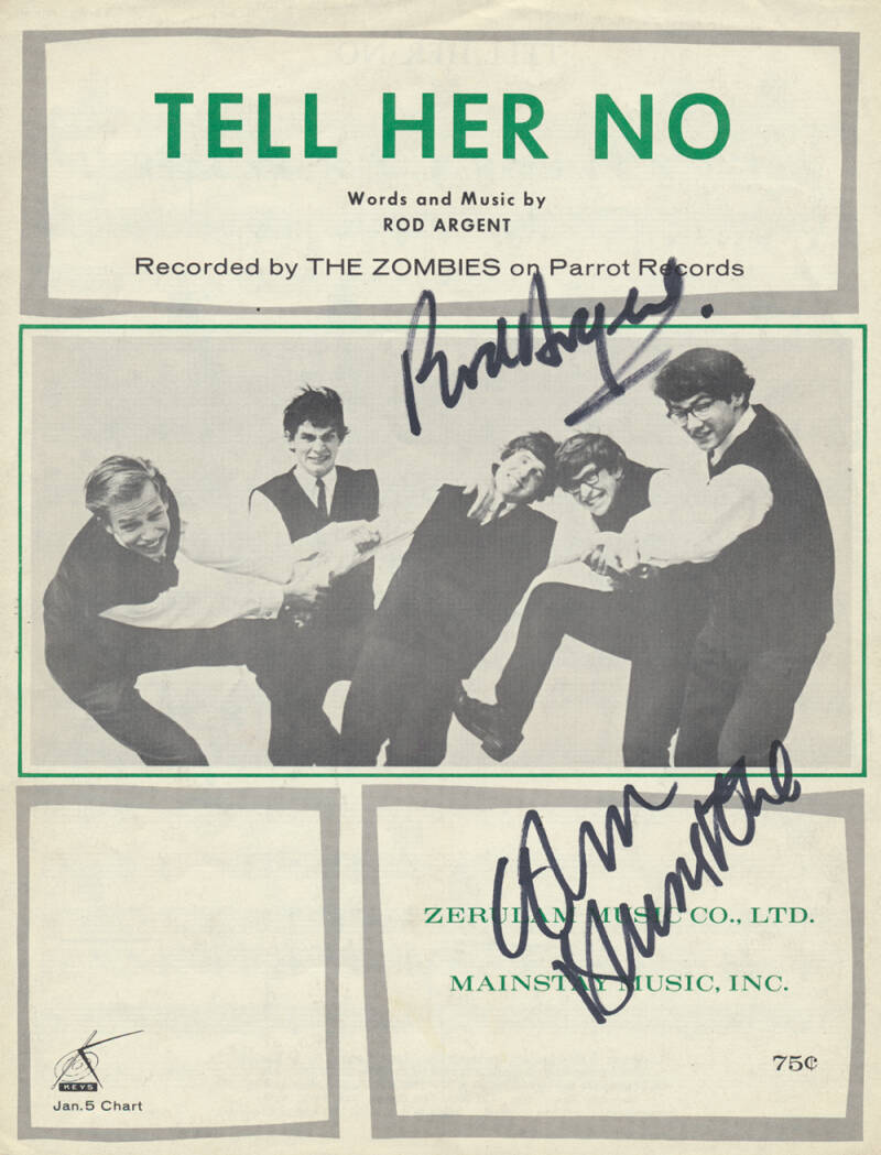 The Zombies - Tell Her No [USA] - Sheet Music
