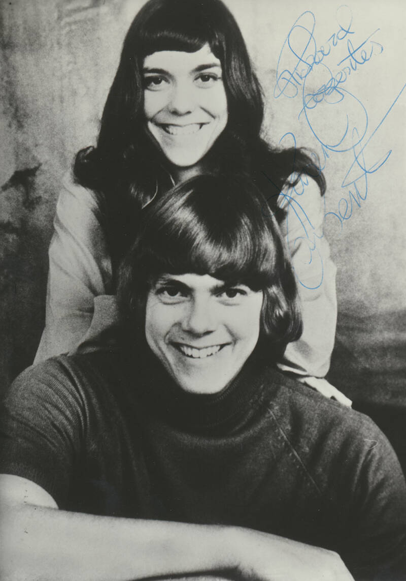 The Carpenters signed publicity press photo