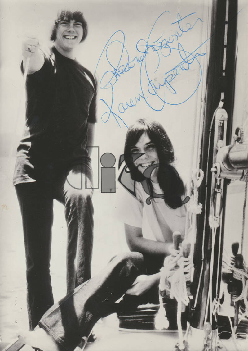 The Carpenters - 1974 [Holland] - Signed Publicity Photo