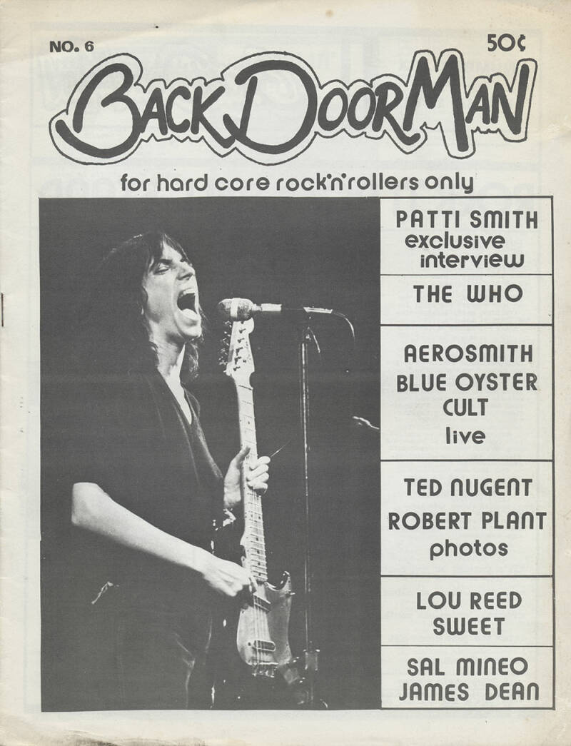 Back Door Man issue 06 - April 1976 [USA] - Magazine