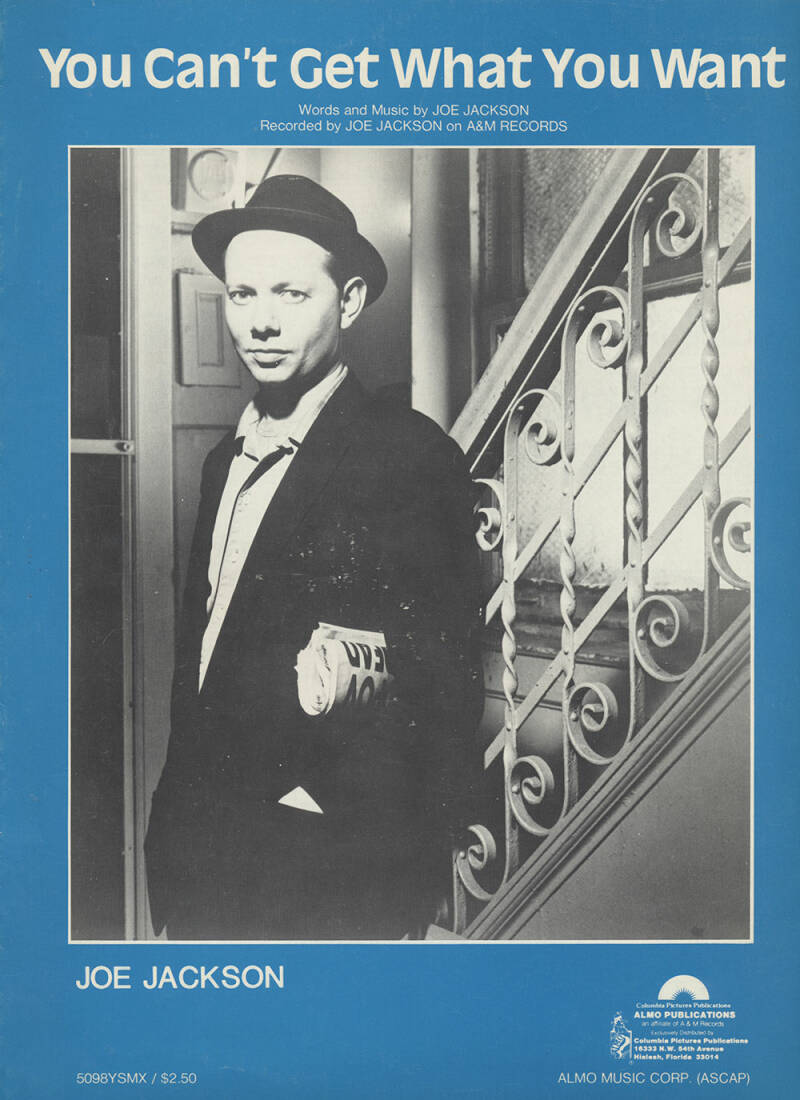 Joe Jackson - 1984 [USA] - Sheet Music