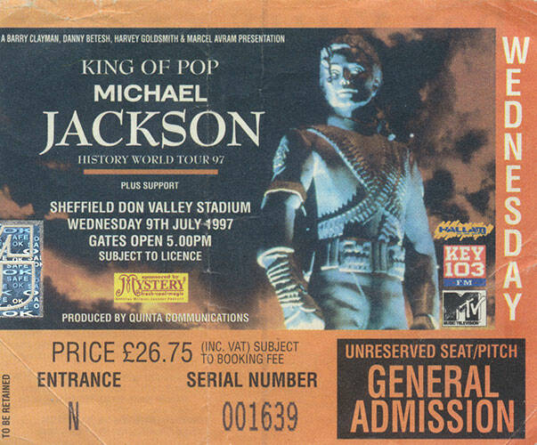 Michael Jackson ticket stub