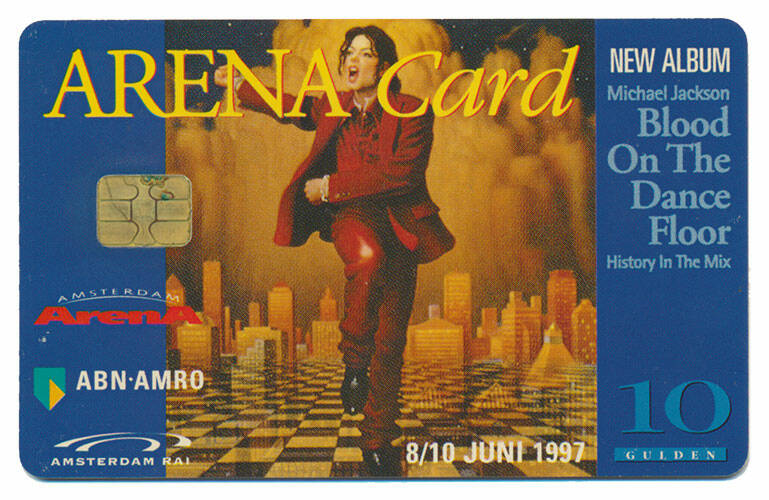 Michael Jackson drinks card