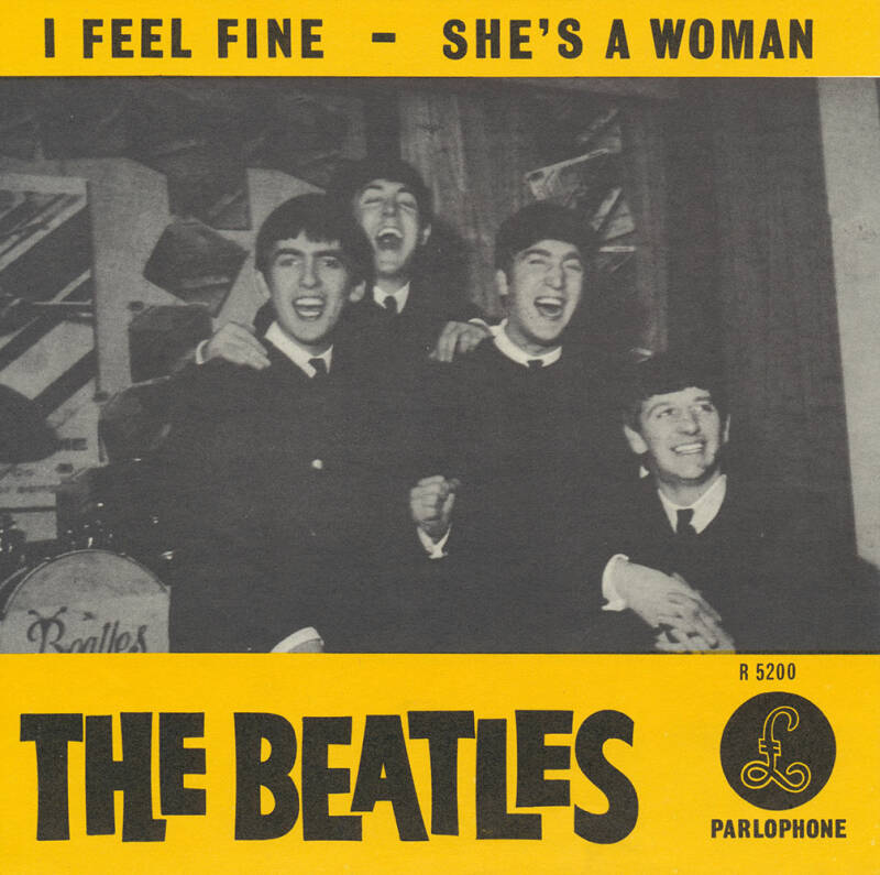 The Beatles - I Feel Fine - 1964 [Holland] - Record Sleeve